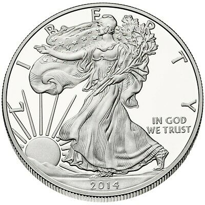 Lot of 20 in Sealed US Mint Tubes   2014 Silver Eagle 1 oz American Silver Coin