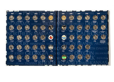 50 STATE  &  6 TERRITORY QUARTERS,   Complete Set,  album/folder,   UNCIRCULATED