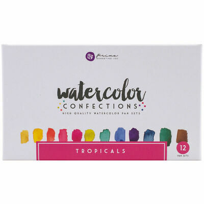 Prima Marketing Watercolor Confections High Quality 12 Pan Set, Tropicals!