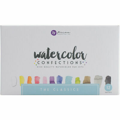 Prima Marketing Watercolor Confections High Quality 12 Pan Set, The Classics!