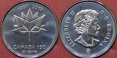 Brilliant Uncirculated 2017 Canada 150th 50 Cents From Mint's Roll