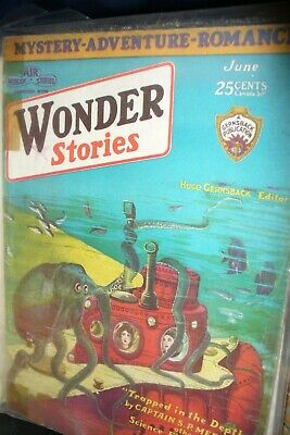 Wonder Stories Us Pulp Magazine June 1930