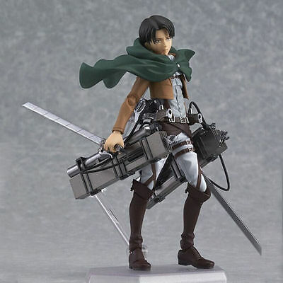 Shingeki No Kyojin Levi Ackerman Figma Action Figure Attack On Titan New w BOX
