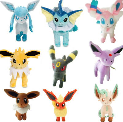 "8"" Pokemon Stand Jolteon Flareon Glaceon Umbreon Espeon Sylveon Plush Toy  Doll"