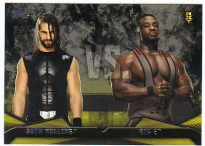 2016 Topps WWE Then Now Forever Rivalries NXT #20 Big E vs. Seth Rollins