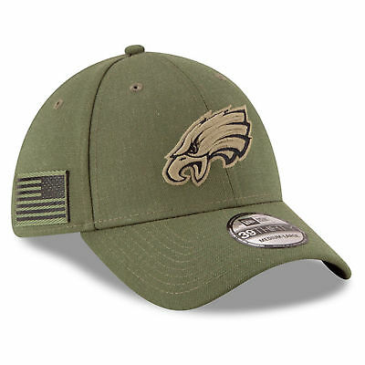 bc6858b4 Philadelphia Eagles Nfl New Era 39Thirty Salute To Service Sideline Hat Cap  S/m