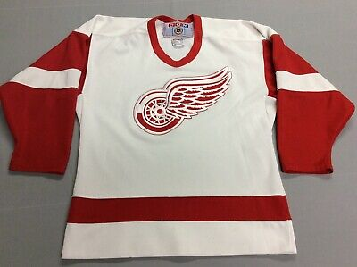 the latest 48f06 490f5 VINTAGE 90S DETROIT Red Wings Ccm Stitched White Jersey Youth Large, Xl