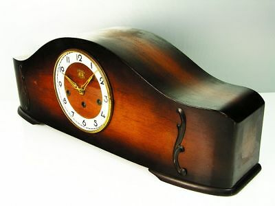 Pure Art Deco Westminster Chiming Mantel Clock From 2 Glocken