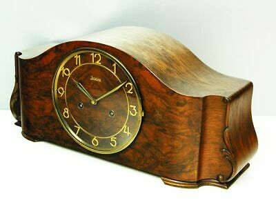 Pure Art Deco Chiming Mantel Clock From  Junghans Germany