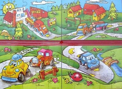 Puzzle completo K.96 n. 141 -142 -143 - 144 + 4 ( Bpz ) cartine