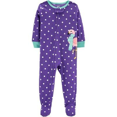 e48826b96f45 NWT ☀FOOTED FLEECE☀ CARTERS Girls HEARTS Pajamas New YOU PICK 4T ...