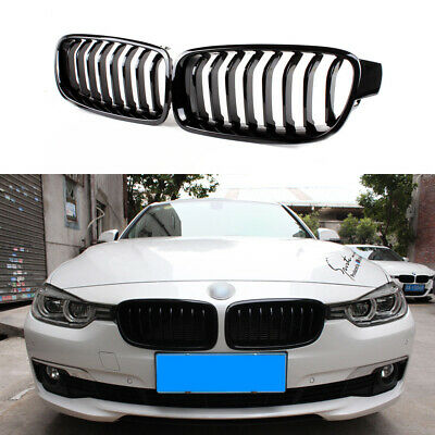 Glossy Piano Black Front Grille Grill For Bmw F30 F31 328i 335i 316d