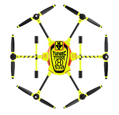 Yuneec Typhoon H520-Skin- Yellow Neon/Wrap/Decal/Vinyl/Film/Drone/UAS/