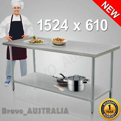 Kitchen Work Bench 430 Stainless Steel Table Restaurant Style Prep Table