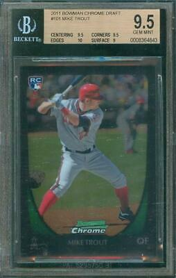 2011 Bowman Chrome Draft Mike Trout Rookie Card Angels 101 Bgs 95 Gem Mint