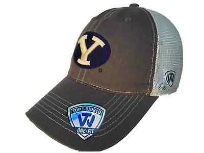 huge selection of f83e5 214b7 BYU Cougars TOW Gray Putty Two Tone Mesh One Fit Flexfit Hat Cap