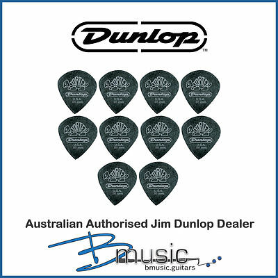 10 x Jim Dunlop .60mm Tortex® Pitch Black Jazz III Plectrums
