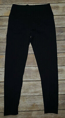 66bfb2a4cb6019 Womens AERIE American Eagle Black High Rise Athletic Leggings Chill Play  Move LG