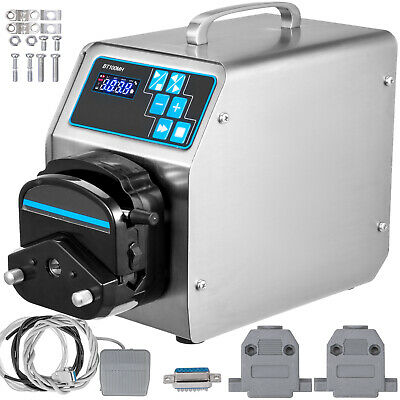 BT100S Basic Variable Speed Peristaltic Pump with Pump Head YT25 Flow Rate