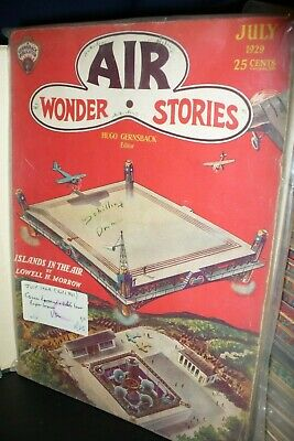 Air Wonder Stories Us Pulp Magazine July 1929 First Issue