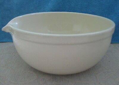 large 10.5cm x 23.8 vintage FOWLER WARE Australia cream MIXING BOWL pouring lip
