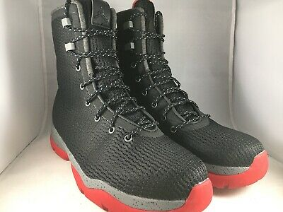 5afb874044b2 NIKE AIR JORDAN Future Boots Shoes Black Red Bred Size 10.5 854554 ...