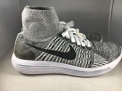 finest selection 6f5a4 bfb99 NIKE LUNAREPIC FLYKNIT Oreo mens size 10 818676-101 White/Black
