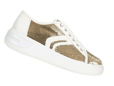 0c3b16c3c21e6 Scarpe Sneakers Donna Geox Estate D92Bye 0At54 C0583 Ottaya Gold And White