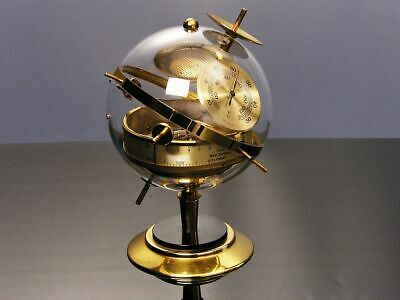 Later Art Deco Bauhaus Modernism Weatherstation Chrome West Germany With F And C