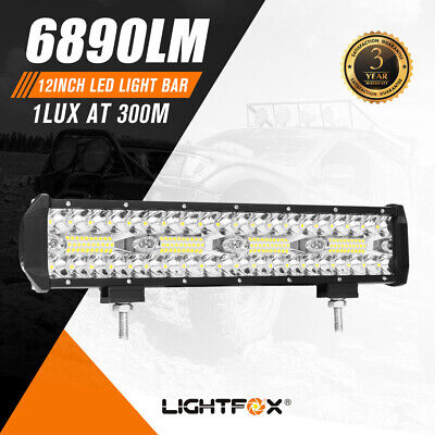 12 Inch Cree Led Light Bar Driving Work Super Slim Spot Flood Combo Offroad 4x4