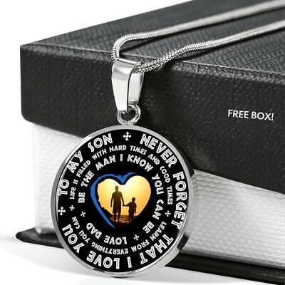 b28731f3e5801 TO MY SON Necklace - Perfect Son & Dad Silver pendant - Gifts From ...