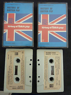 History Of British Pop Rare Oz Double Cassette Tape! Hollies Dave Clark Five