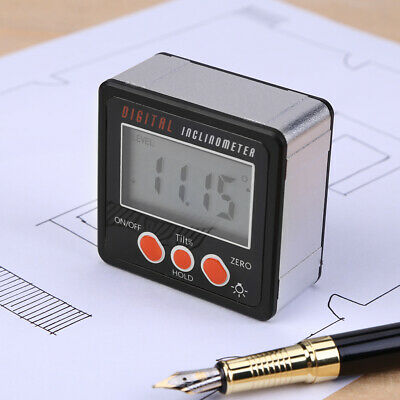 LCD Digital Inclinometer Protractor Gauge Bevel Angle Finder Magnet Base BRIGHT