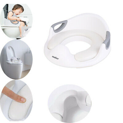 Baby Kid Toddler Potty Toilet Seat Training Trainer Safe Handle Soft Pad Cushion