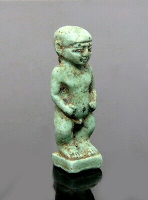 Egyptian Faience Amulet Of Ptah. Super Detail (M342)