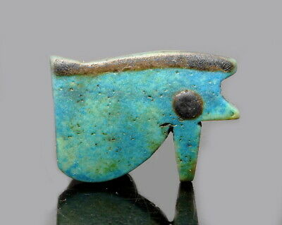 Egyptian Faience Eye Of Horus Amulet (M343)