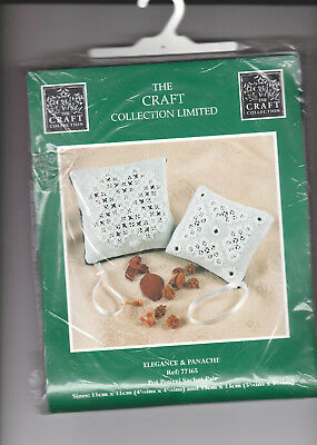 Hardanger Kit  Pot Pourri Sachet Pair Or Pictures. 11  X 11 Cm Craft Collection