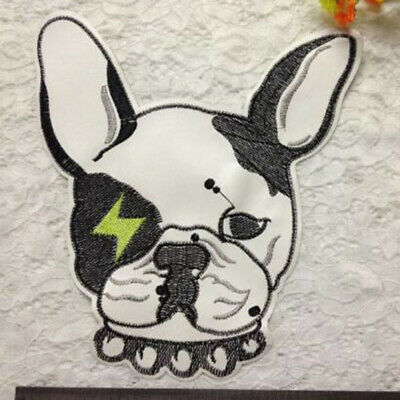 DIY Embroidery Iron On Patch Cute Dog Puppy Pet Cloth Sticker Applique Sew CB