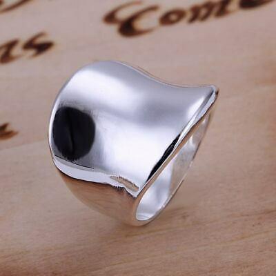 beautiful Fashion 925 silver MEN Women wedding solid Ring jewelry SIZE 6-10