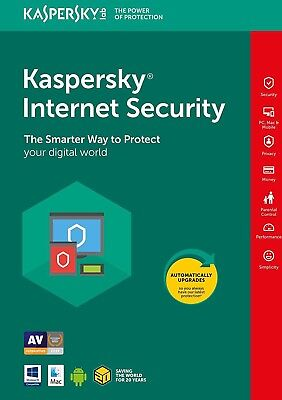 Kaspersky Internet Security 2019 [1 PC, 1 Devices - KEY - ESD]