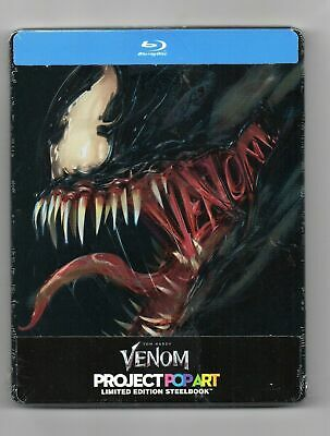 Venom - Blu-ray Steelbook - NEW / SEALED - Regions: A/B/C