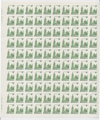 1979 Canada - Houses of Parliament - Mint Sheet 100 x 17 Cent Stamps
