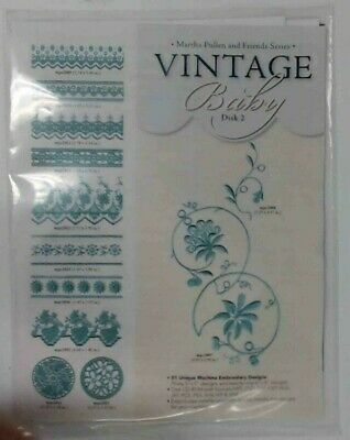Martha Pullen Embroidery Cd Vintage Baby Disk 2