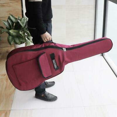 40/41 Inch 600D Oxford Fabric Guitar Case Gig Bag Double Straps Padded Backpack