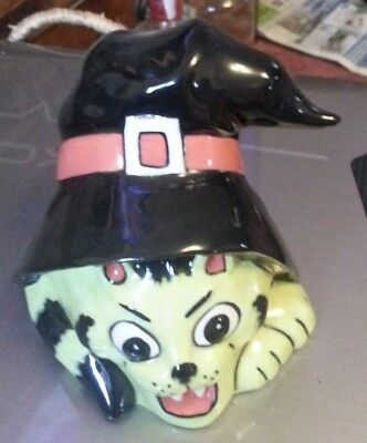 Lorna Bailey Hello-Ween cat in a witches hat  Excellent Condition FREE P&P