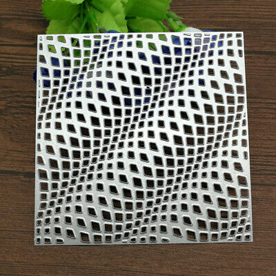 3D Wave Square Frame Metal Cutting Dies Stencil Craft Antique Hollow Out Grid