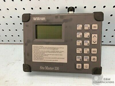 Wiltron 330 Anritsu Portable Transmission Line Tester - No Ac Adapter (A4)