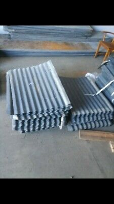 RECLAIMED METAL- CORRUGATED TIN ROOFING TILES- 6 sq ft (10 Sheets)