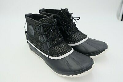 2c977ae3c3a SOREL OUT N About Leather Boot Women's Black Sea salt Size US 9 EU 40 Used