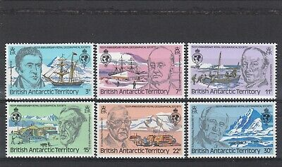 a110 - BRITISH ANTARCTIC TERR - SG93-98 MNH 1980 RGS PAST PRESIDENTS